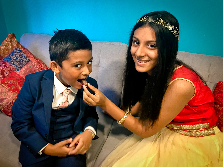 Brother-Sister Day - Shalini Feeds Shivam A Sweet
