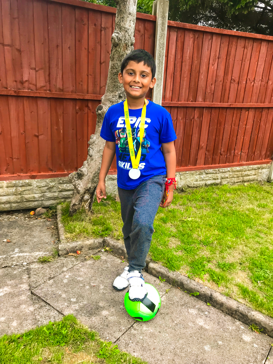 Living Arrows - Shivam shows off his medal