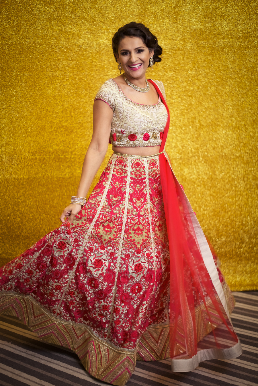 My Big Bash at 40 - I twirl in my lehenga