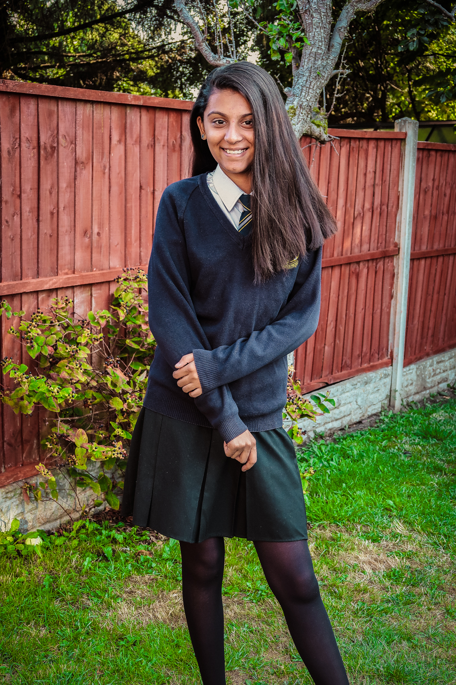 Back To School - Shalini in her uniform