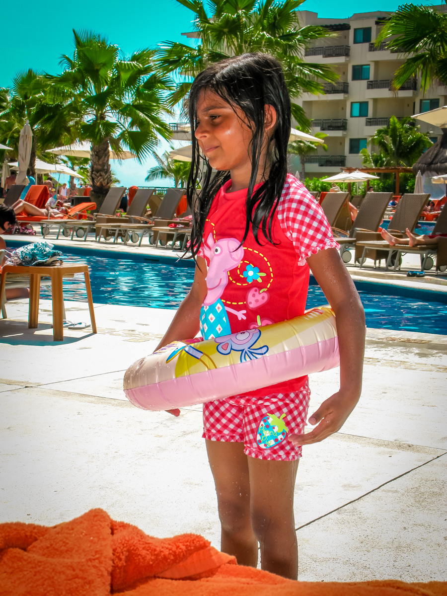 Holiday In Mexico - Shalini enjoying the pool