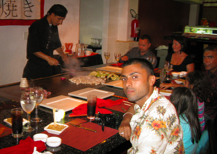 Holiday In Mexico - Sukh at the Japanese restaurant