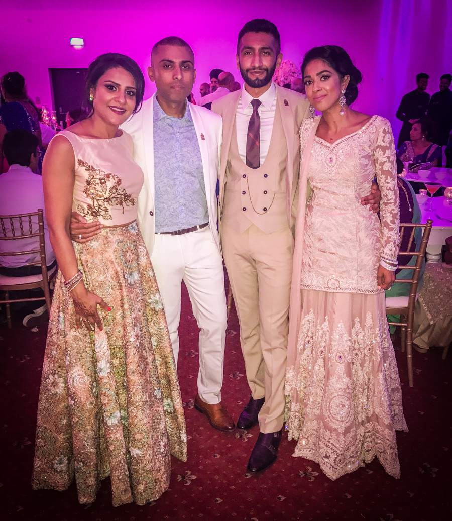 What I Wore - Me With Sukh And His Cousins At The Wedding Reception