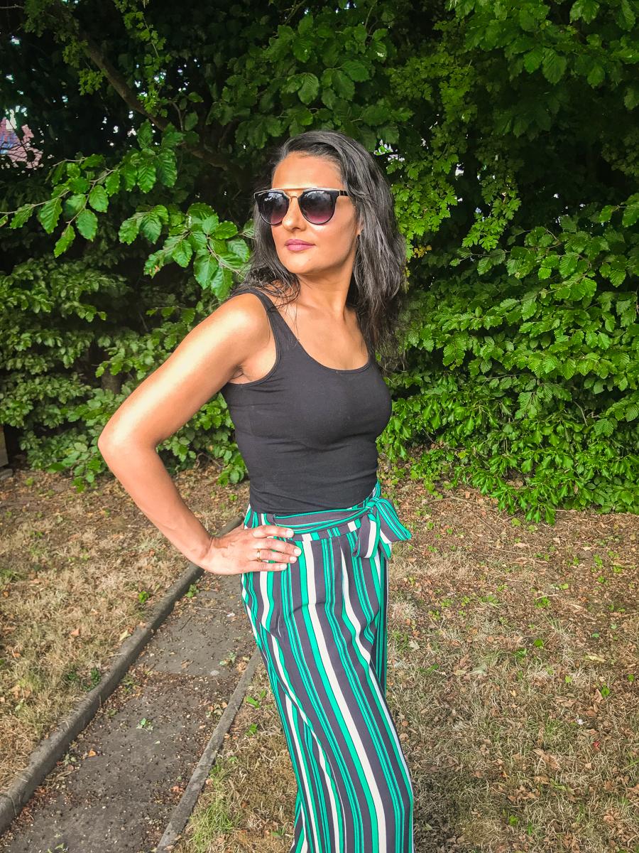 Summer Season - Palazzo Stripe Trousers