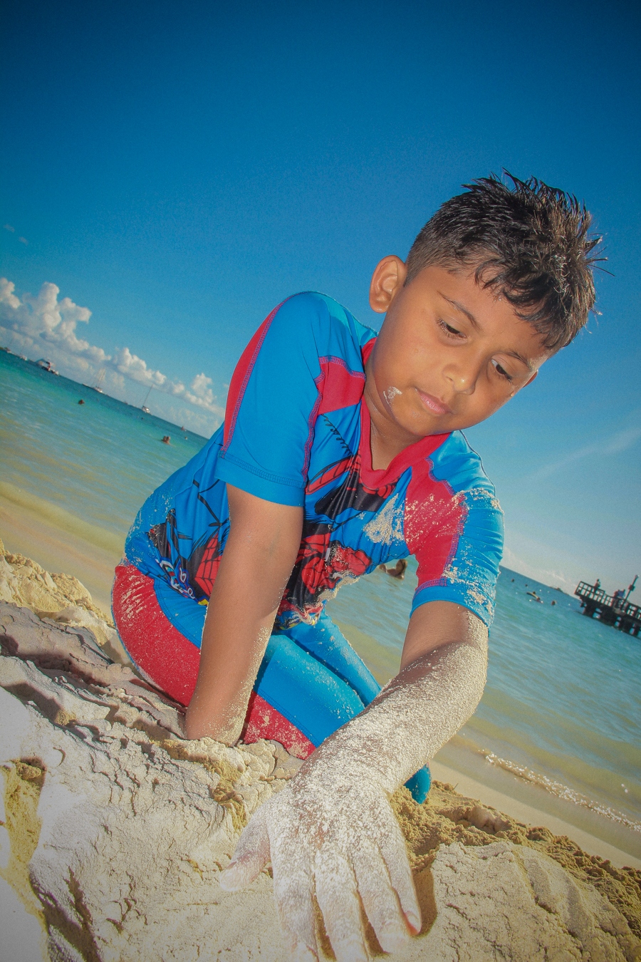 Time Out - Shivam playing in the sand