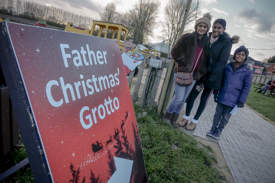Visiting Santa At Hatton - Off To The Grotto