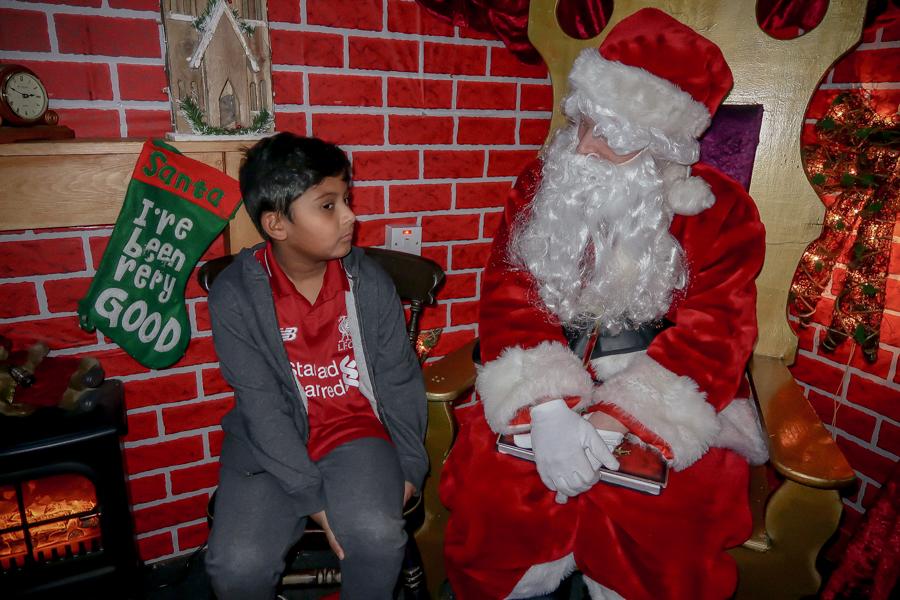 Visiting Santa At Hatton - Meeting Santa