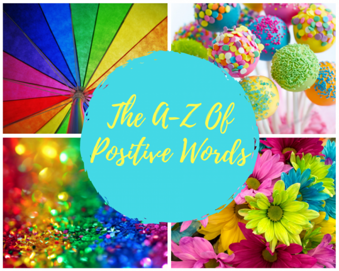 The A-Z Of Positive Words Sign