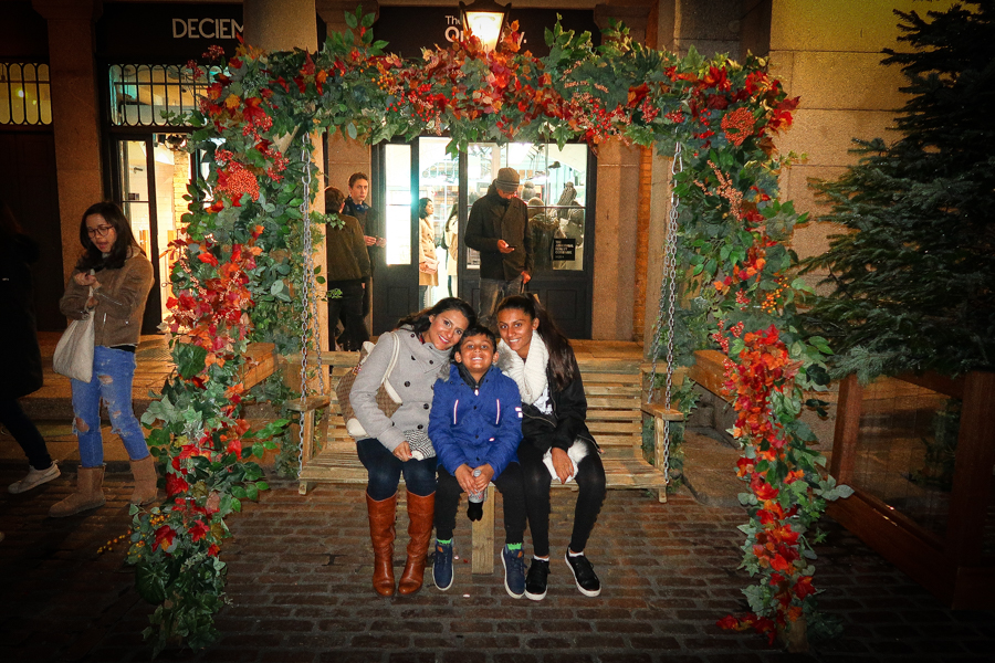 Me and the kids in Covent Garden in London