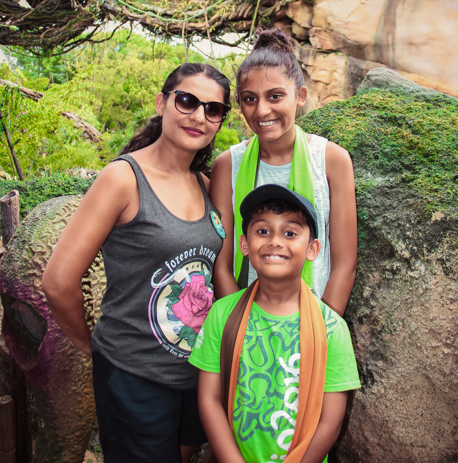The kids and I at Animal Kingdom