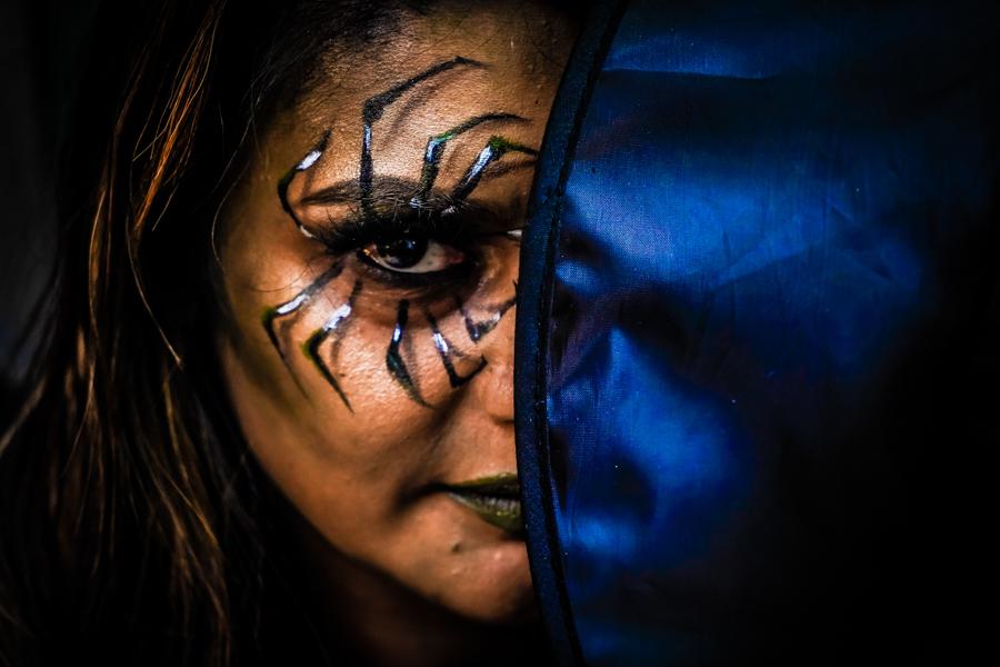 Witch Face Makeup Close-Up