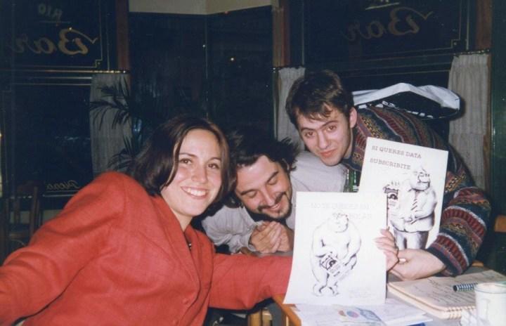 Daniela, Leiro y Lucio.
