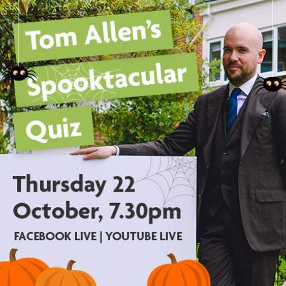Local comedian Tom Allen plans a Spooktacular quiz-night to raise money to support