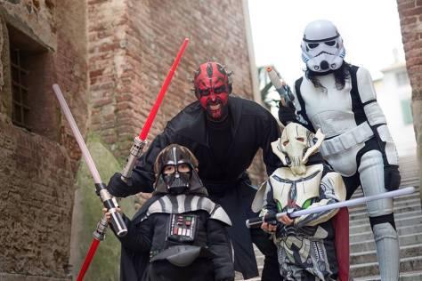 Cosplay al Carnevale dei bambini di Foiano, Arezzo.