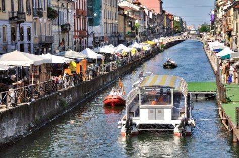 Milano con i bambini battelli dai navigli
