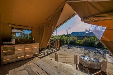 Family lodge tent. Le tende di lusso sul mare di Capalbio