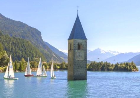 campanile sommerso-Val Venosta- ph.sudtirol