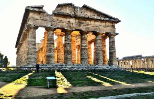 Parco Archeologico di Paestum-tramonto