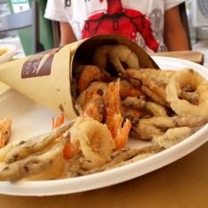 Modica-Coppo con frittura di pesce