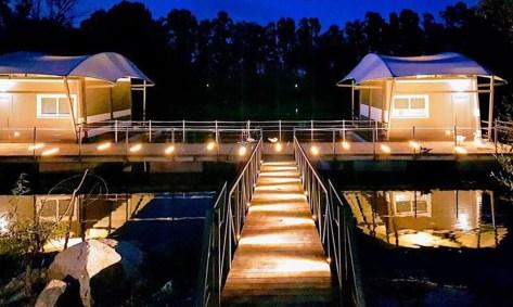 dormire tra gli alberi eco lodge-plana-resort-campania-suite galleggianti