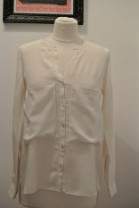 Zara cream silk blouse