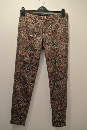 Zara baroque printed trousers