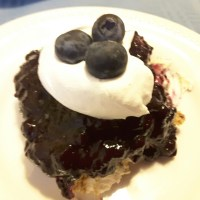 No Bake Blueberry Eclair Dessert
