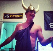 Kevin Allen is apparently a viking with a VCU-centric decor.