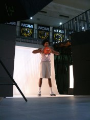 Justin Tillman strikes a pose