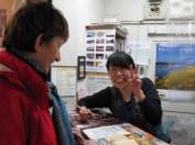 At the Tourist Info in Kurume