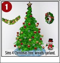 Sims 3 Christmas Tree.Sims 3 Cc Christmas Decor Why Santa Claus