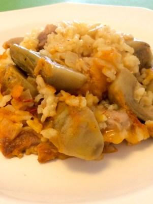 Chicken and Artichokes Paella