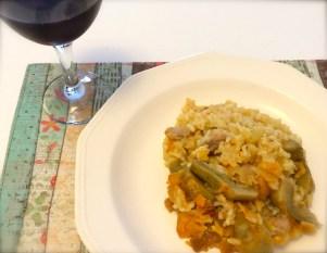 Chicken and Artichoke Paella