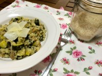 Spinach, Courgette and Mushroom Risotto