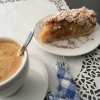 Apple pie and flat white