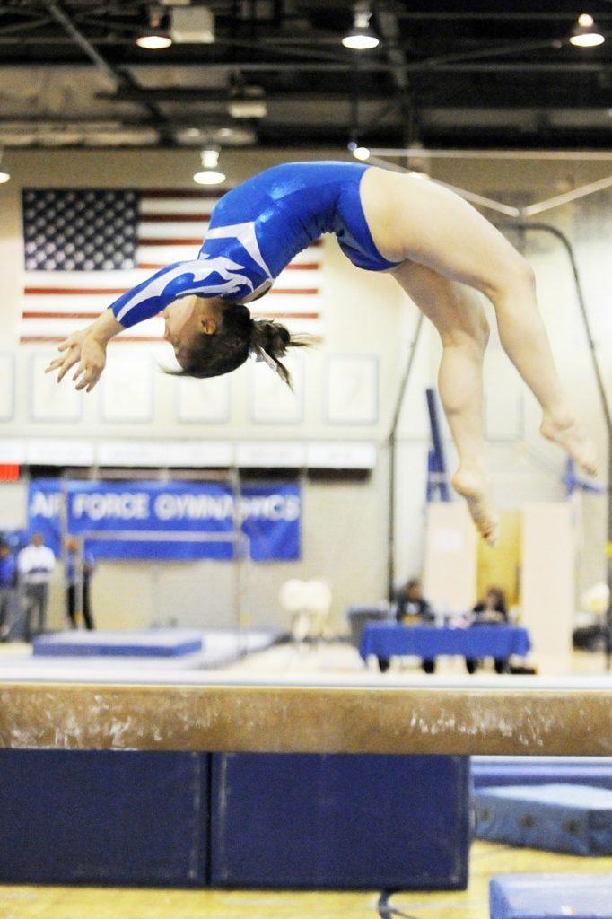 gymnast flips