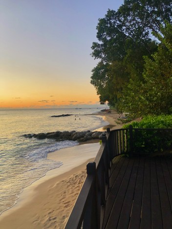 Sunset over the West Coast of Barbados.