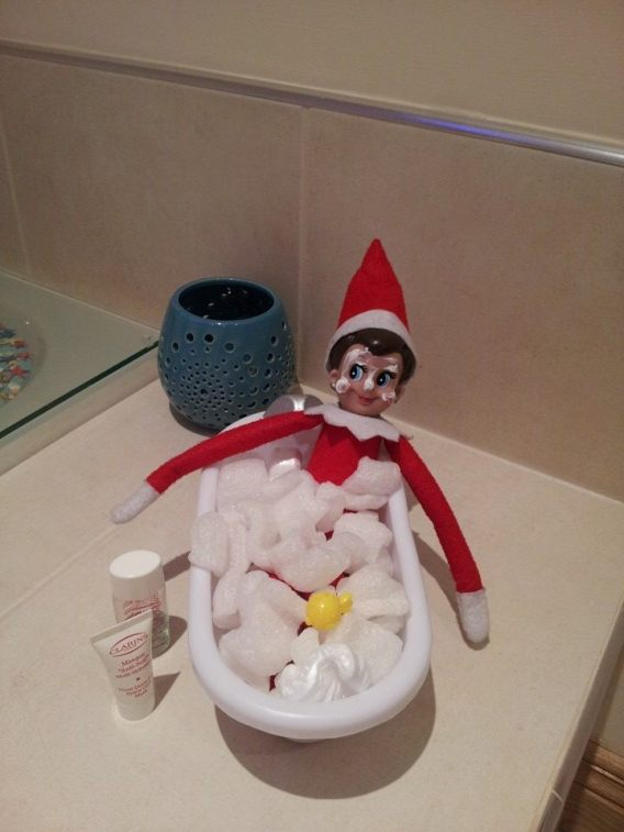 Jingles the Elf having a little R and R
