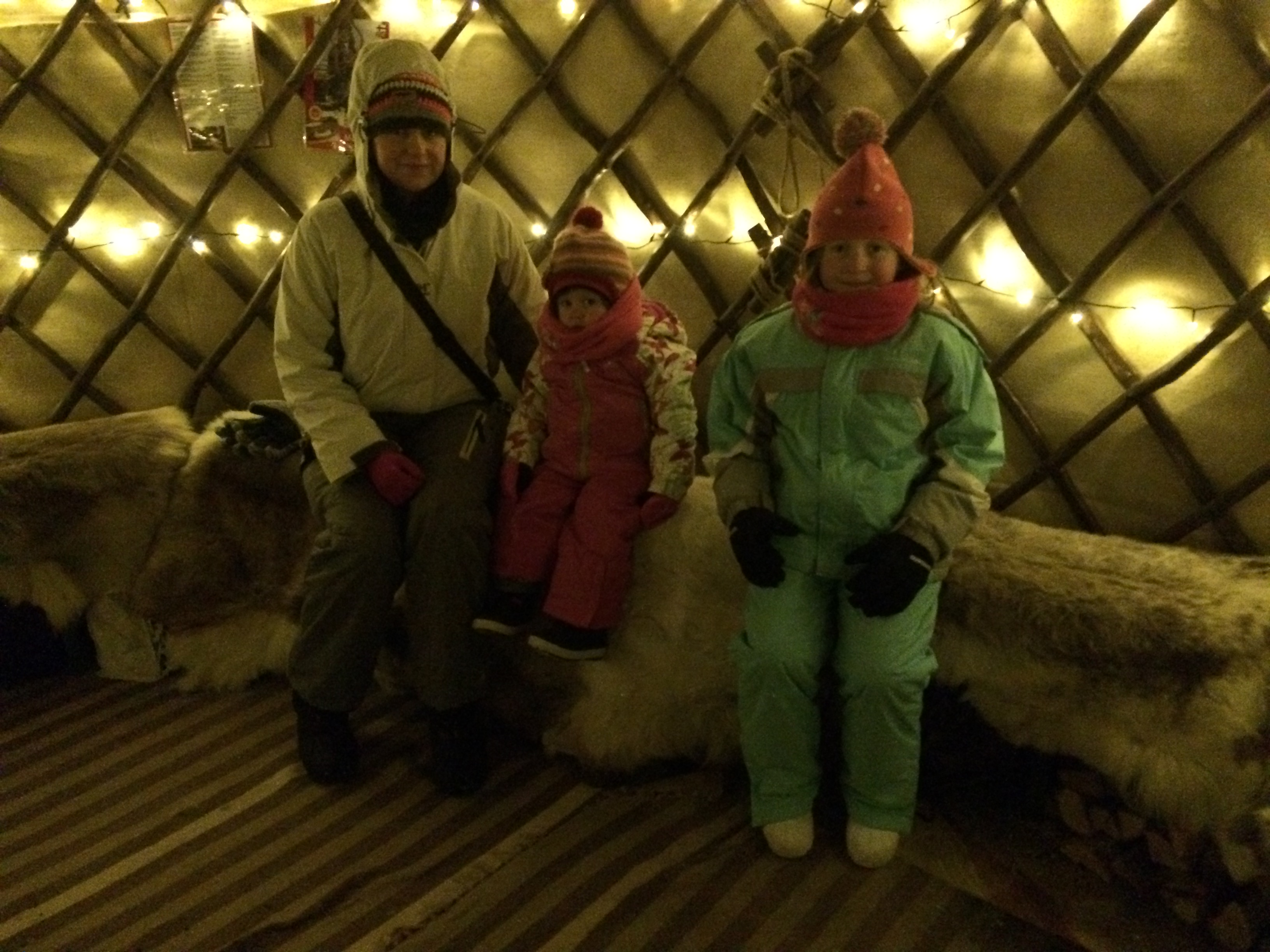 Waiting patiently for the husky ride in Rovaniemi, Lapland
