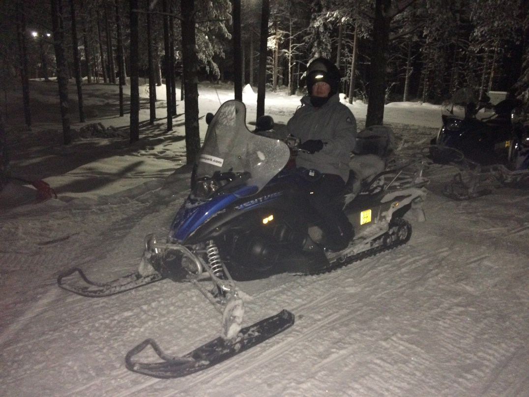 Snowmobiling with the Arctic Circle Snowmobile Park in Rovaniemi, Lapland