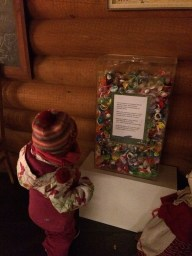 A container of dummy's that children post to Santa Claus at Santa Claus Village, Rovaniemi