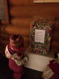 A container of dummy's that children post to Santa Claus at Santa Claus Village, Rovaniemi
