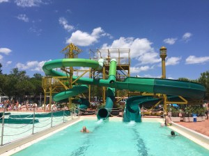 Waterslides at Spiaggia e Mare Holiday Park, Italy