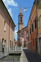 Iconic buildings in Comacchio, Italy