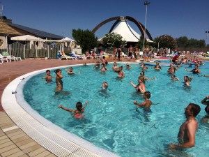 Aqua Aerobics at Spiaggia e Mare Holiday Park