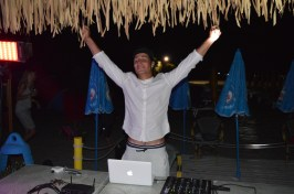 DJ Andrea on the decks at Spiaggia e Mare Holiday Park, Italy