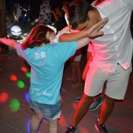Dabbing at Mini Disco at Spiaggia e Mare Holiday Park, Italy