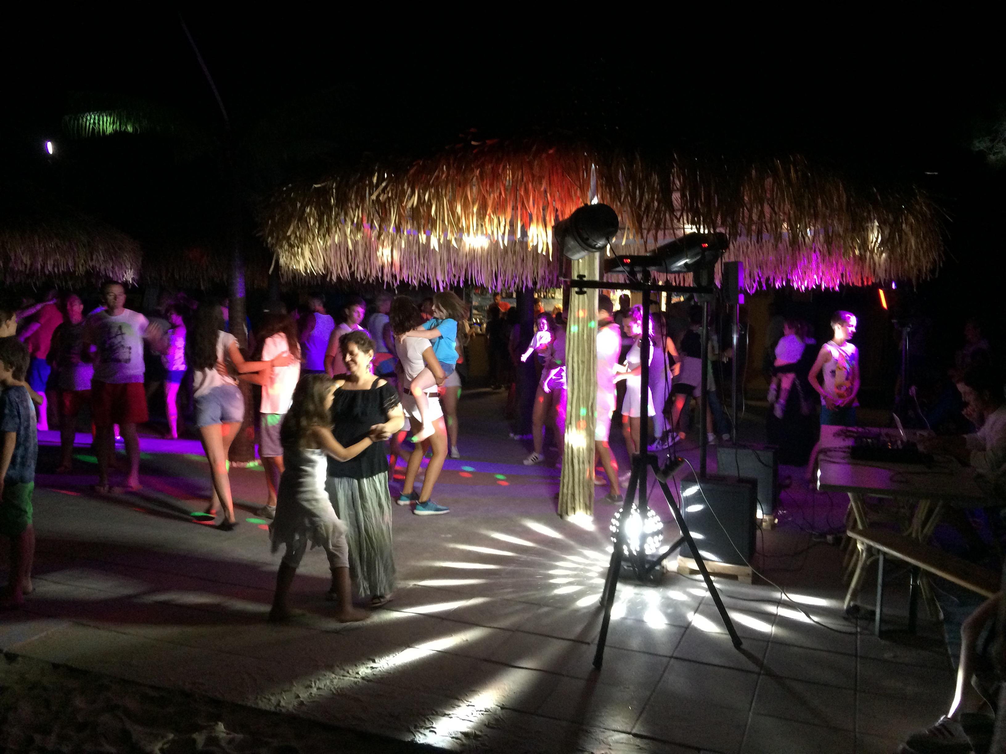 Mini Disco at the Beach Bar in Spiaggia e Mare Holiday Park, Italy