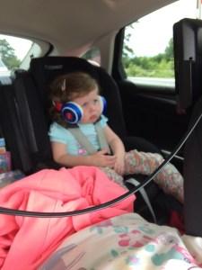 Matilda listening to a few beats.