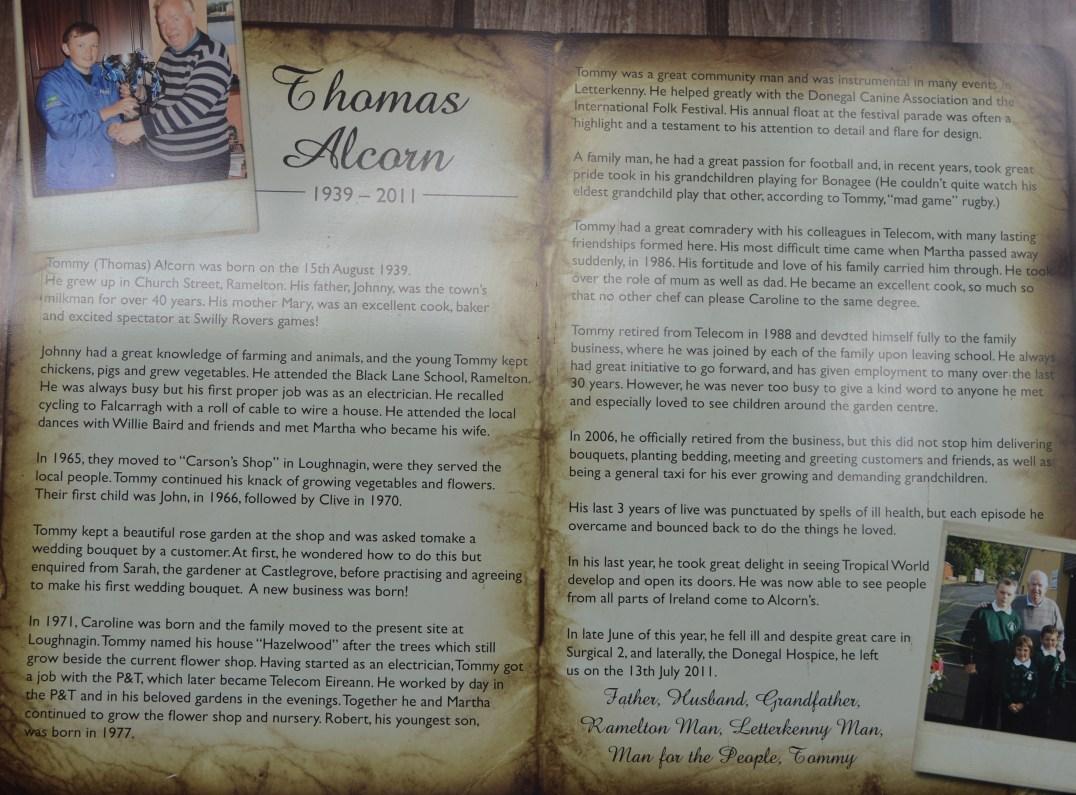 Thomas Alcorn, founder of Alcorn's Garden Centre in Letterkenny